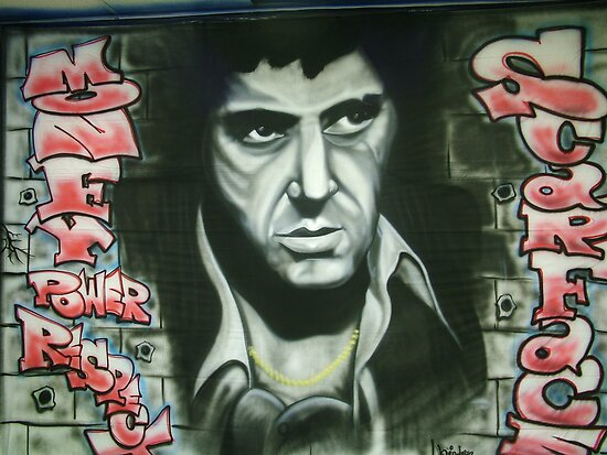 scarface backdrop by Airbrushr  Rick Shores