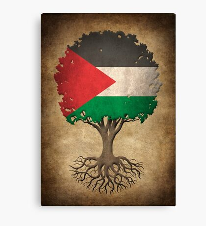 Tree of Life with Palestinian Flag Canvas Print