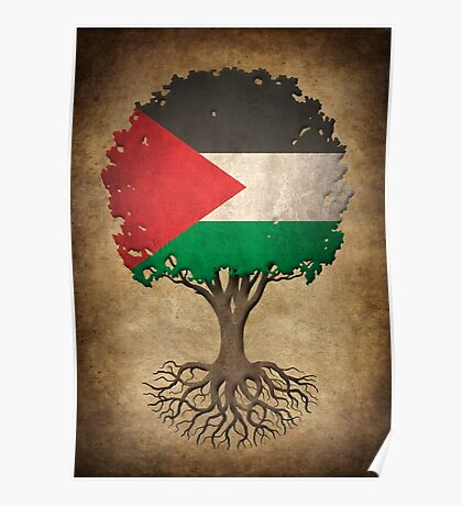 Tree of Life with Palestinian Flag Poster