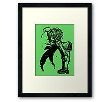 Wriggle stencil  Framed Print