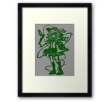 koishi stencil Framed Print