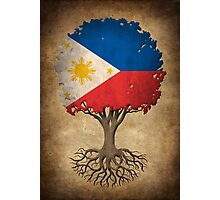 Tree of Life with Filipino Flag Photographic Print