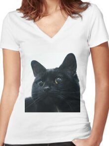 Biddy Women's Fitted V-Neck T-Shirt