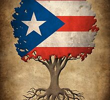 Tree of Life with Puerto Rican Flag by Jeff Bartels
