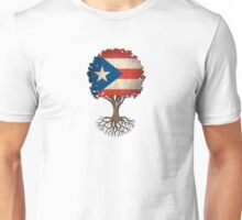 Tree of Life with Puerto Rican Flag Unisex T-Shirt