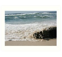 Sandy Water Art Print