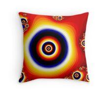Fire of The Eye Fractal Design  Throw Pillow