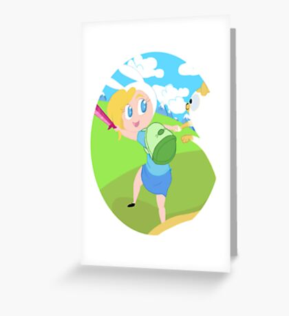 Fionna and Cake! Greeting Card