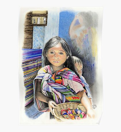 CHILD AT A MARKET IN CHIAPAS, MEXICO Poster