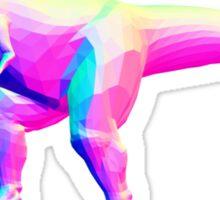 Rainbow Normal T-Rex Sticker