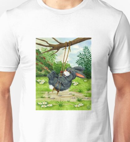 RABBIT ON A SWING Unisex T-Shirt