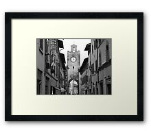 Time stands still in Pisa, Italy Framed Print
