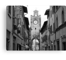 Time stands still in Pisa, Italy Canvas Print