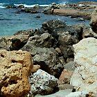 At Achziv Beach - Israel, North by Nira Dabush