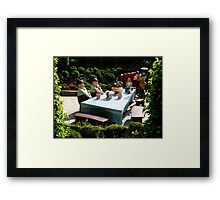 Alice and The Mad Hatter's Tea Party Framed Print