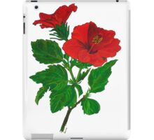 Red Hibiscus iPad Case/Skin