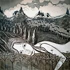 "Amy's Travels - Aquatint Etching by Belinda ""BillyLee"" NYE (Printmaker)"