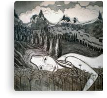 Amy's Travels - Aquatint Etching Canvas Print