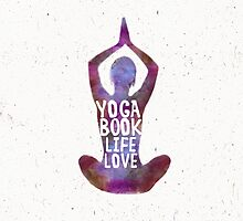 Yoga: book, life, love Caribbean colors by Pranatheory