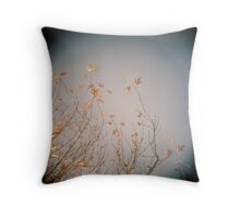Last Leaves Throw Pillow