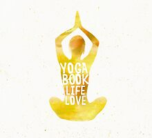 Yoga: book, life, love MERIGOLD color by Pranatheory