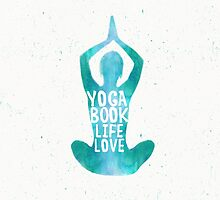 Yoga: book, life, love SEAFOAM color by Pranatheory
