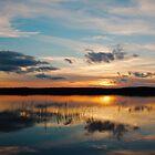 sunset over a finnish lake by Hannele Luhtasela-el Showk