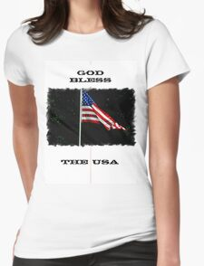 God Bless the USA Womens Fitted T-Shirt