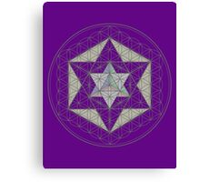 Flower of Life, Vector Equilibrium, Merkaba   Canvas Print