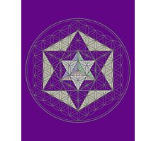Flower of Life, Vector Equilibrium, Merkaba   Photographic Print