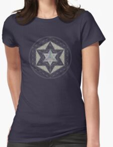 Flower of Life, Vector Equilibrium, Merkaba   Womens Fitted T-Shirt