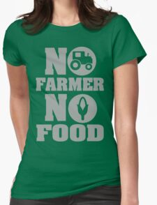No farmer no food Womens Fitted T-Shirt