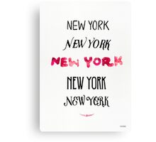 New york typography HOTLIPS color Canvas Print