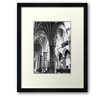Exeter Cathedral - Columns  Framed Print