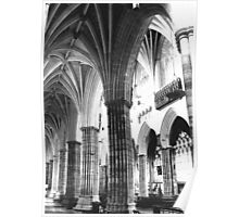 Exeter Cathedral - Columns  Poster