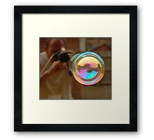 Photographing Bubbles Framed Print