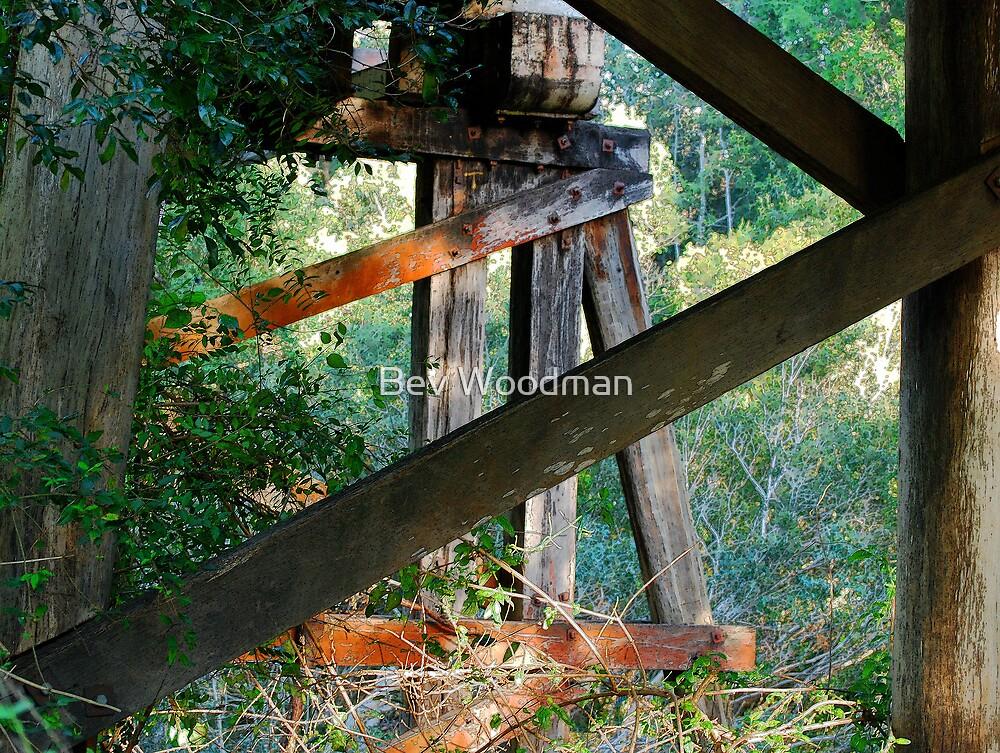 Wooden Trestles - Duff's Bridge, Dingo Creek NSW by Bev Woodman