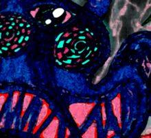 3 Eyed Octopus Sticker