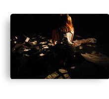 Money is also a girl's best friend since it buys diamonds Canvas Print