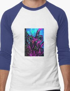 Psychedelic Squid Men's Baseball ¾ T-Shirt