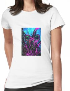 Psychedelic Squid Womens Fitted T-Shirt