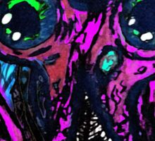 Psychedelic Squid Sticker