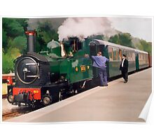 Train at Welshpool Station Poster