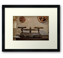 Antique Weighing Scales Framed Print