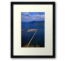 Little town in the heart of the lagoon Framed Print