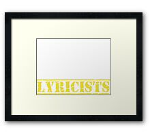 8th Day Lyricists T-shirt Framed Print