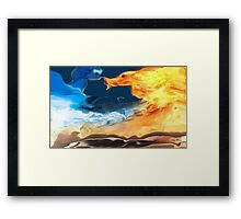 Crazy weather- Abstract-design products Framed Print