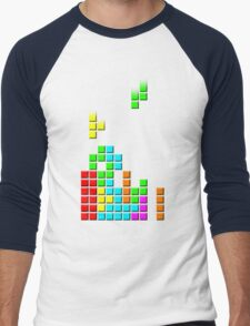 #1 TETRIS FAN Men's Baseball ¾ T-Shirt