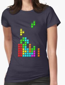 #1 TETRIS FAN Womens Fitted T-Shirt