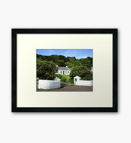 my dream home ... at Portbradden Framed Print